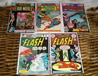 THE FLASH  #234, #238/WEIRD WORLDS #1/ACTION COMICS #415 LOT OF 5 DC  1972 - 76