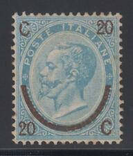 1865 - c.20 su c.15 celeste chiaro (ferro di cavallo) I° tipo, ling - lotto 272