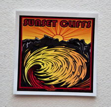 "SUNSET CLIFFS Surfer Surfing Stickers Decals 4""x 4"" Epic Surf Breaks San Diego"
