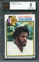 1979 topps #390 EARL CAMPBELL houston oilers rookie card BGS BVG 8