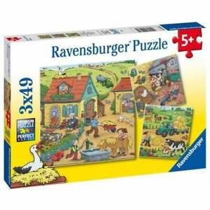 Ravensburger On the farm 3 x 49 pc Jigsaw Puzzles 5+