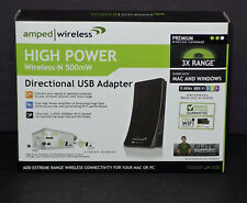 Amped Wireless UA1000 Wireless Adapter Wireless-N 500mW Directional USB Adapter
