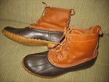 Mens BEAN BOOTS LL BEAN Maine Ankle Boots Tan Brown Gumshoes USA 12