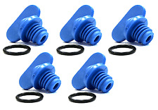 Blue Plastic Exhaust Manifold Water Drain Plug Screw Kit for Mercruiser 5.7/350