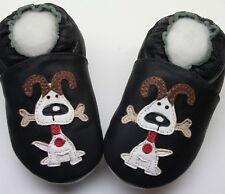 soft sole shoes minishoezoo dog black 4-5y US 12-13 chaussons bebe