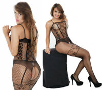 Women's Bodysuit Body Stocking Lingerie Fishnet Babydoll Nightwear Sleepwear