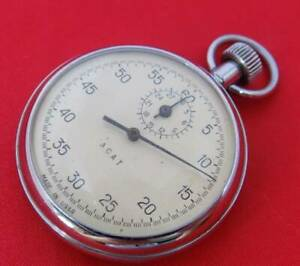 Mechanical Stop watch Agat Soviet USSR Russian wind up vintage working serviced