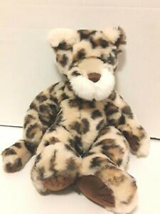 First & Main Zooglie Cheetah Brown Tan Plush Stuffed Animal Toy 14""