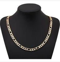 Goldkette extra lang 60cm vergoldet 4MM dünne Kette Gold Damen Herren Halskette