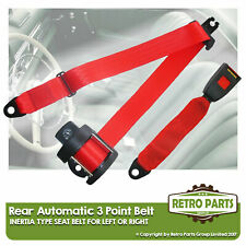 Rear Automatic Seat Belt For Morris 1100 Estate 1962-1971 Red