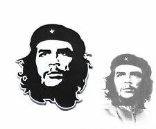 Che Guevara Chrome Car Motorcycle Sticker 3D Badge Emblem Nameplate Black