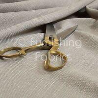 New Linen Effect Soft Lightweight Upholstery Chenille Fabrics Material Off White