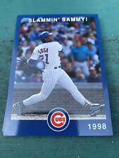 SAMMY SOSA 1998 Chicago CUBS Slammin' Sammy Sosa ComED MLB Baseball SGA CARD NM
