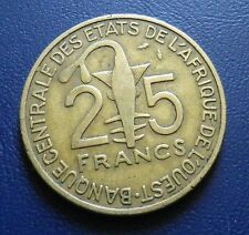 25 francs etats de l'afrique de l'ouest 1978
