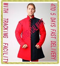 Black & RED Gambeson Type IV Medieval Padded Armour Coat SCA LARP Arming Jacket
