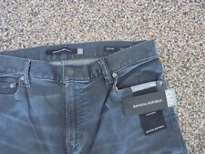 NWT Banana Republic Tapered Fit Men's Rapid Movement Jeans Canyon Grey 33 X 30