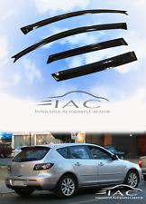 Mazda 3 03-09 Hatchback 5D Window Visor Vent Sun Shade Rain Guard Door Visor