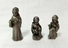"Pewter 3 Piece Nativity Miniature 3/4""h"