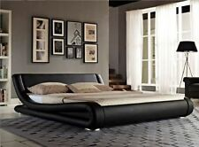 Unbranded Faux Leather Modern Beds with Mattresses