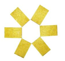 """Vintage Yellow Crackle Glass 4"""" x 2 1/4"""" Decorative Slabs Creative Project"""