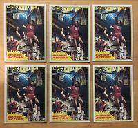 Julius Erving Mint 1981 Topps Super Action #104 Lot Of (6)