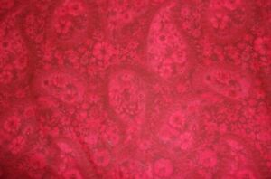 CLEARANCE 6 YARDS Floral Paisley Deep Red Tonal Crafts Quilting Cotton Fabric