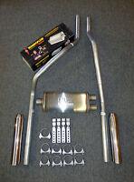 83-01 Chevrolet GMC S10 S15 Mandrel Bent Dual Exhaust w/ Magnaflow