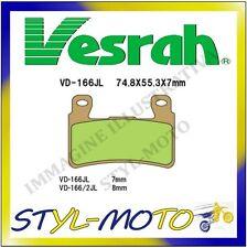 VD-166JL PASTIGLIE ANTERIORI SINTERIZZATE CB 600 F 2 HORNET S600 2000
