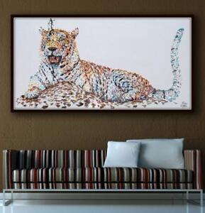 "Tiger  67"", Original animal artwork on canvas, Handmade item, impasto style"