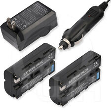 2x 2600mAh Battery+AC/DC Charger for Sony MiniDV HandyCam DCR-VX2000 DCR-VX2100
