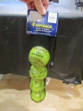 "N2N 4 Softballs official 11"" softballs durable durahide cover optic yellow New"