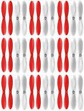 USED MINT 9 x Quantity of Hubsan X4 H107L Red Clear Propeller Blades Props  U104