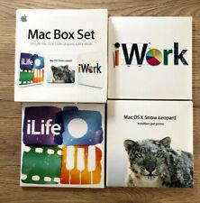 Apple Mac OS X Mac Box Set -  Snow Leopard iLife iWork