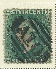 Used Victorian (1840-1901) British St Vincentian Stamps