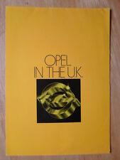 OPEL RANGE orig 1978 UK Mkt Sales Brochure - Kadett Ascona Manta Rekord