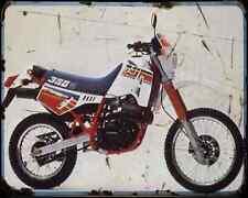 Cagiva T4 350F 87 A4 Metal Sign Motorbike Vintage Aged