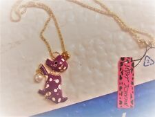 betsey johnson  purple puppy dog with pearl necklace..  SALE