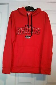 UNLV University of Nevada LV Rebels Sz L Champion Hooded Sweatshirt Hoodie Red