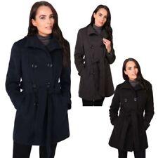 Winter-Zweireihige Damenjacken & -mäntel aus Polyester