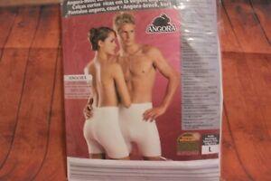 Angora HOSE Pantalon kurz Unterwäsche 50% Angora Unterhemd Wärmewäsche Gr. L NEU