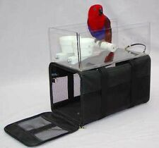 AIRLINE AVIAN TOTE BAG airplane seat parrot travel. 2 cups. tray. pedicure perch