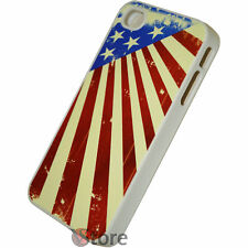 Cover for iPhone 4/4S/4G Flag America Vintage American rigid