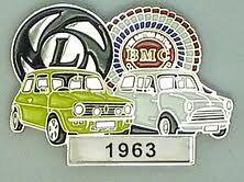 BMC / LEYLAND = MINI BADGE.= YEARS 1959 TO 1977-- CHOICE OF YEARS ----