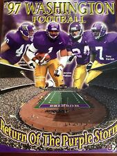 1997 WASHINGTON HUSKIES FOOTBALL MEDIA GUIDE