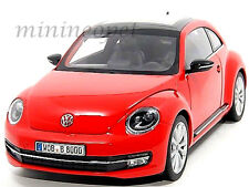 WELLY 18042W 2012 VW VOLKSWAGEN BEETLE 1/18 DIECAST RED