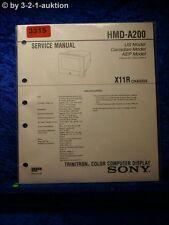 Sony Service Manual HMD A200 Color Computer Display  (#3315)