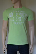 NUOVO Abercrombie & Fitch Henderson LAGO Toga Party distrutto TEE T-SHIRT VERDE XL