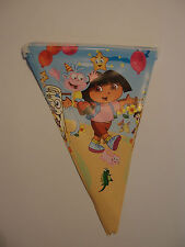 DORA THE EXPLORER BIRTHDAY PARTY FLAG BANNER DECORATION 3M LENGTH
