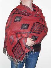 Boho Bandit Aztec Design Reversible Warm Snug Indian Soft Acrylic Shawl (AR7)