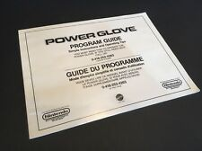 Nintendo Power Glove - Program Guide Manual - 1980's - retro vintage
